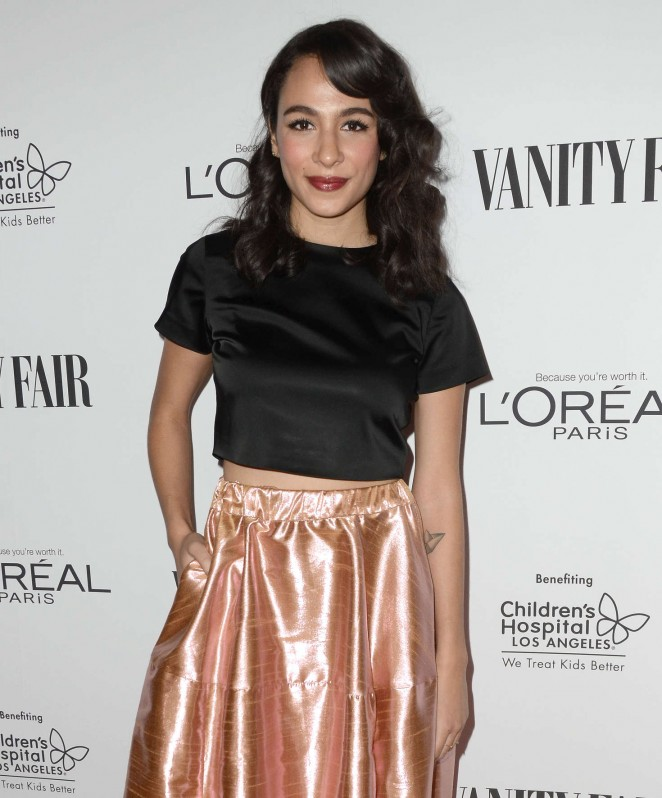 Aurora Perrineau - Vanity Fair L'Oreal Paris and Hailee Steinfeld host DJ Night in West Hollywoo