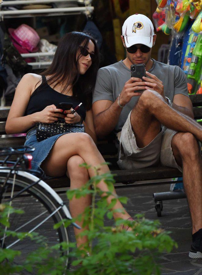 Aurora Ramazzotti and boyfriend Goffredo Cerza out in Milano Marittima