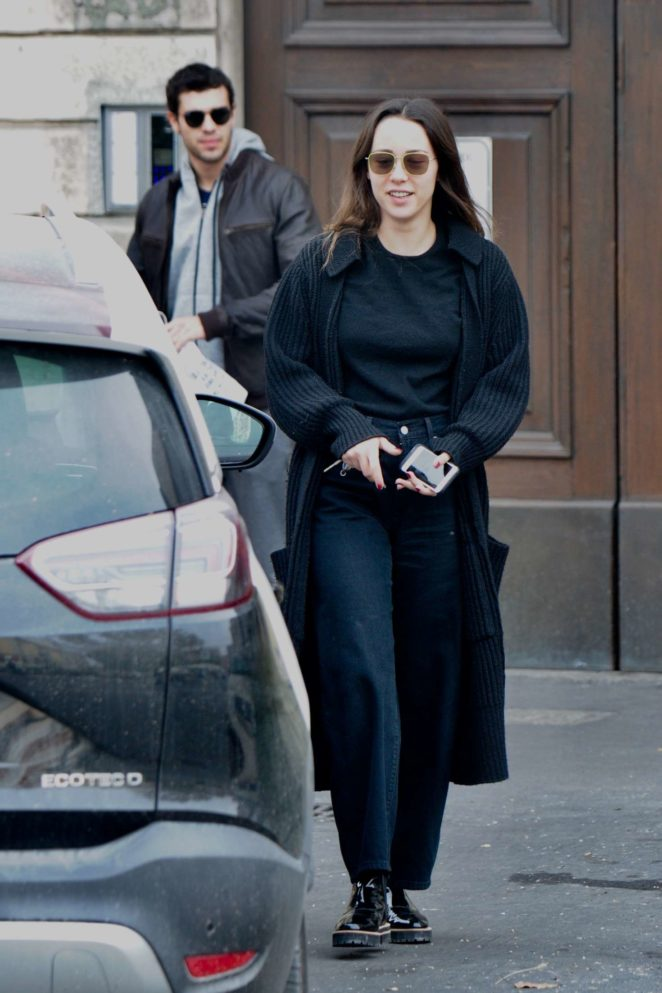 Aurora Ramazzotti and Goffredo Cerza out and about in Milan