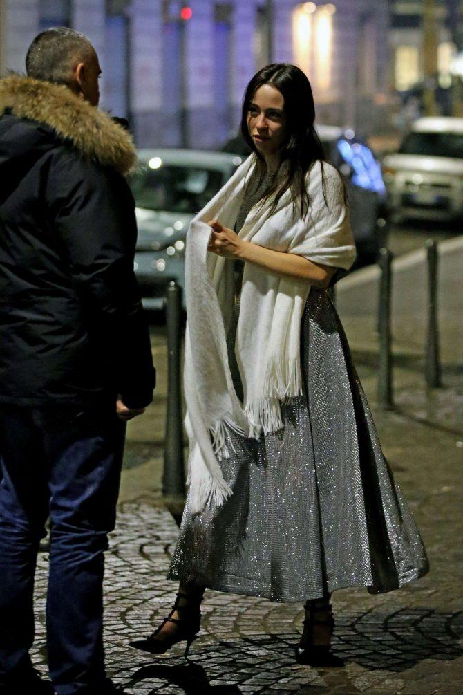 Aurora Ramazzotti at her birthday party in Milan