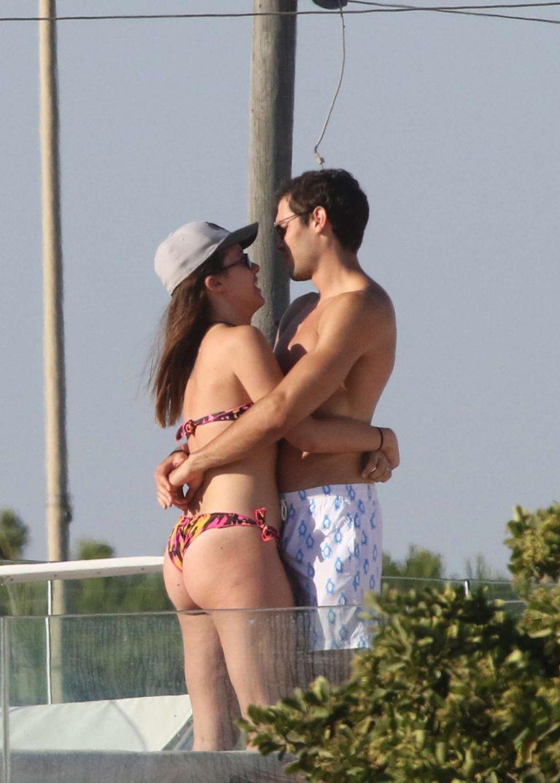 Aurora Ramazzotti in Bikini with boyfriend Goffredo Cerza