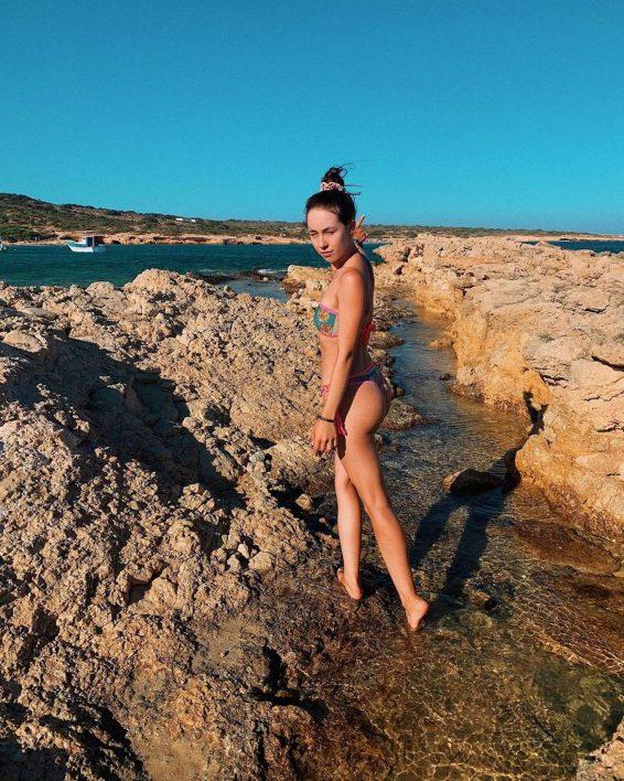Aurora Ramazzotti - Spotted on a beach In Koufonissia