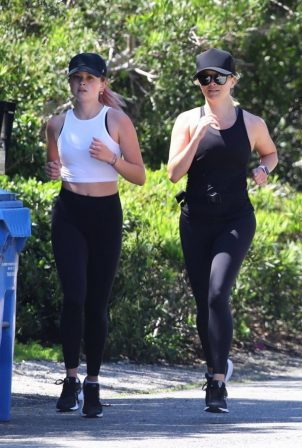 Ava Phillippe and Reese Witherspoon - Out Jogging in Brentwood