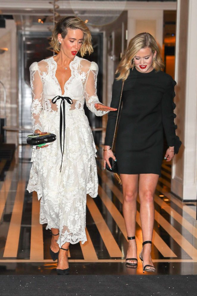 Ava Phillippe and Sarah Paulson - Leaving hotel in New York City