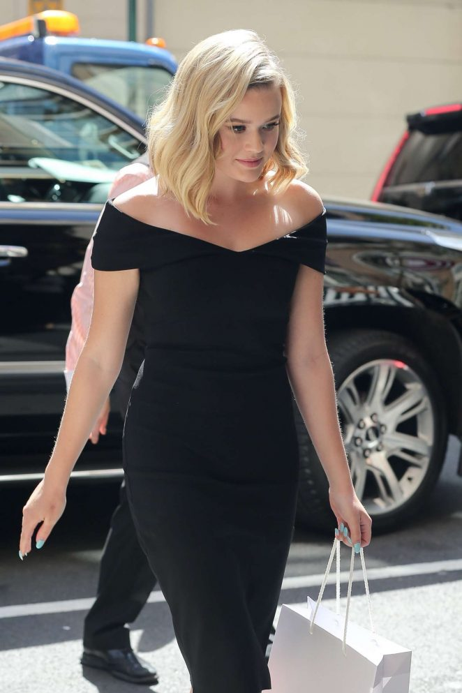 Ava Phillippe in Black Dress out in New York City