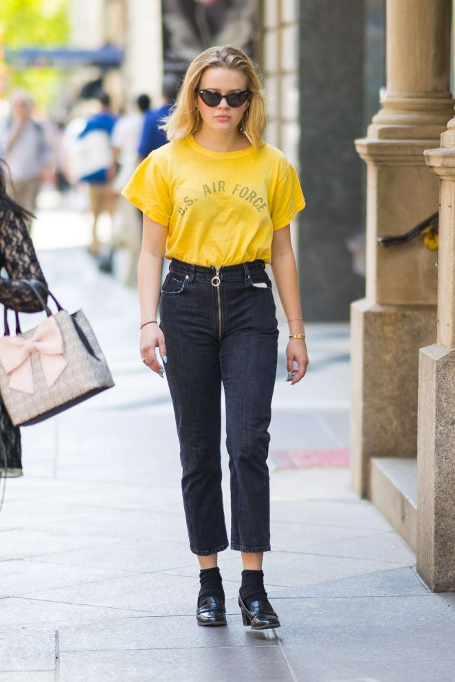 Ava Phillippe in Jeans out in New York