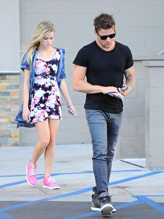 Ava Phillippe in Mini Dress out in Westwood