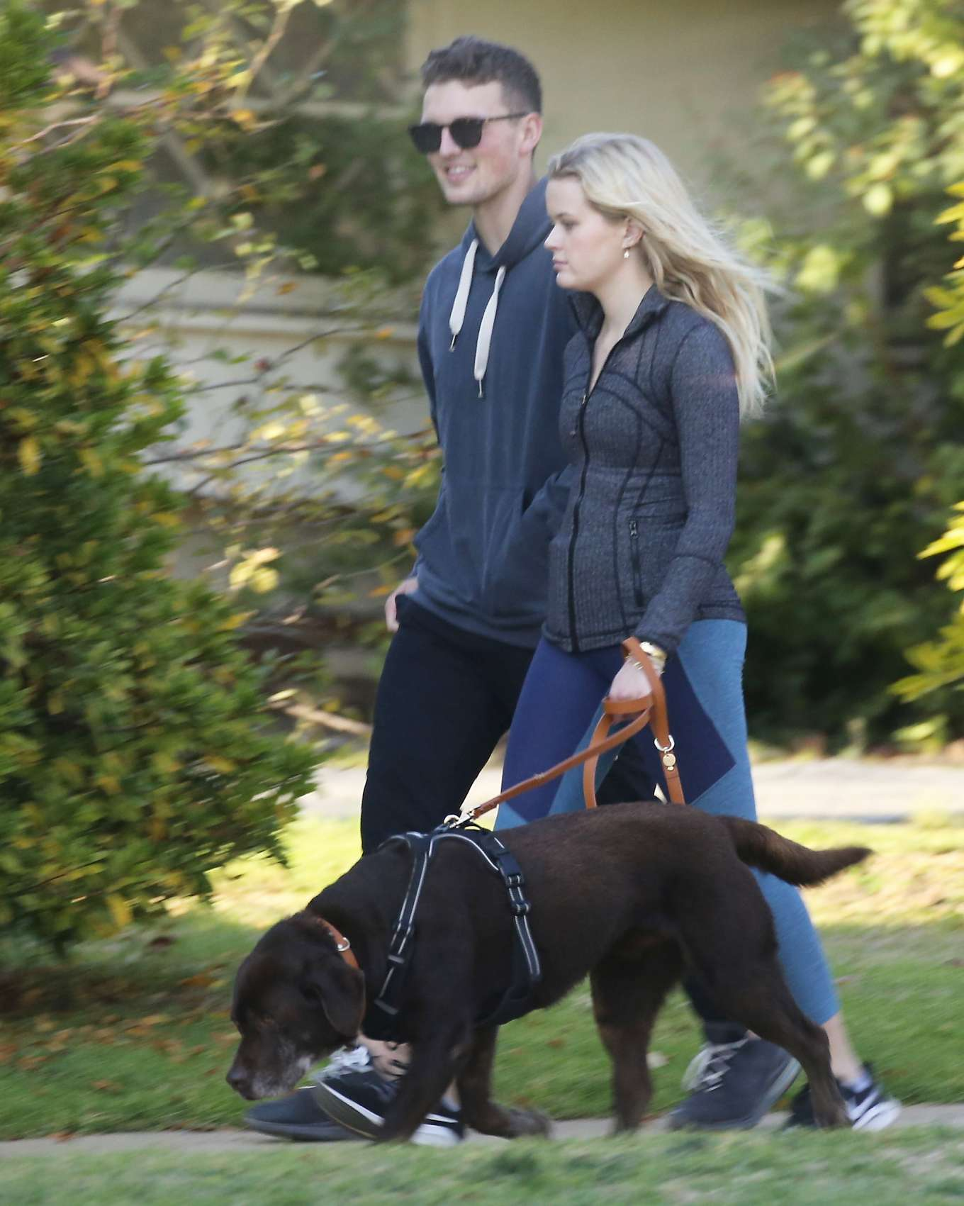 Ava Phillippe - Walking her dog with her boyfriend in Brentwood