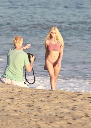 Ava Sambora - Bikini Photoshoot on the beach in Malibu