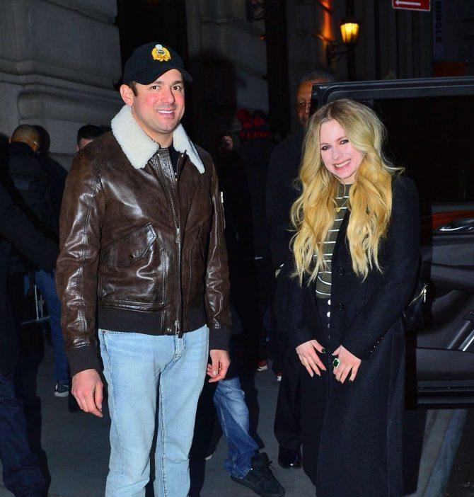 Avril Lavigne and Phillip Sarofim - Out for dinner in New York
