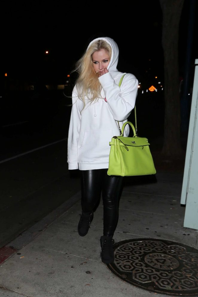 Avril Lavigne at Dan Tana's restaurant in West Hollywood