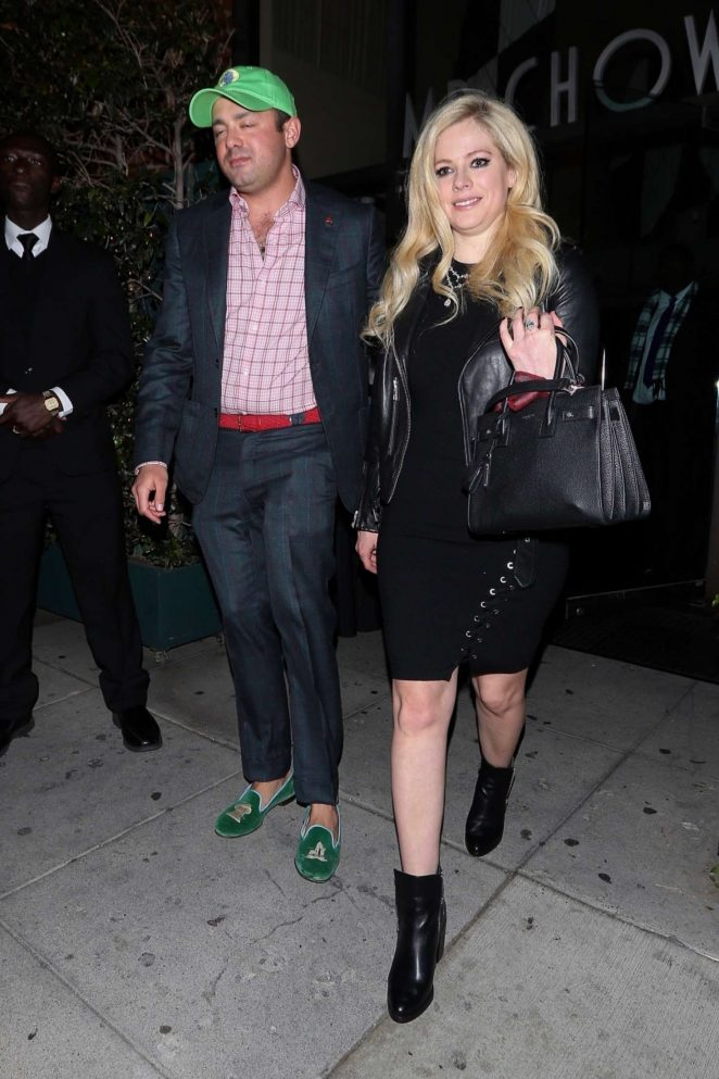 Avril Lavigne at Mr. Chow Restaurant in Beverly Hills