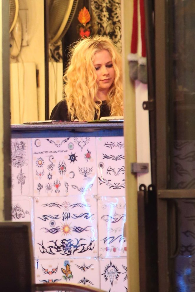 Avril Lavigne at Tattoo Mania in West Hollywood