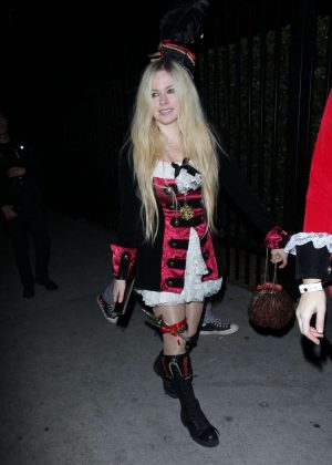 Avril Lavigne - Halloween Party in West Hollywood