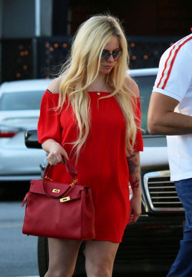 Avril Lavigne in Red out in LA