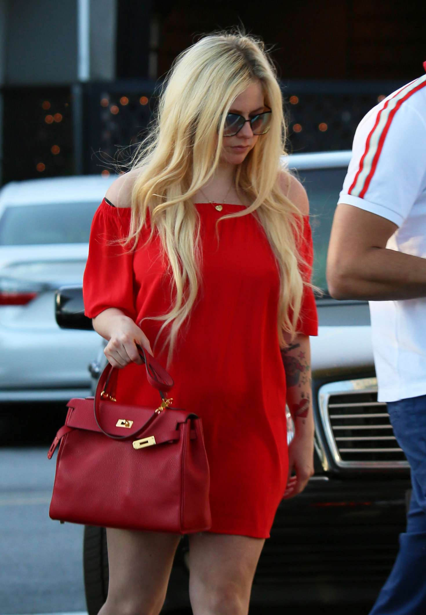 Avril Lavigne in Red out in LA