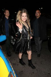 Avril Lavigne - Leaves Halsey's Halloween Party in Hollywood