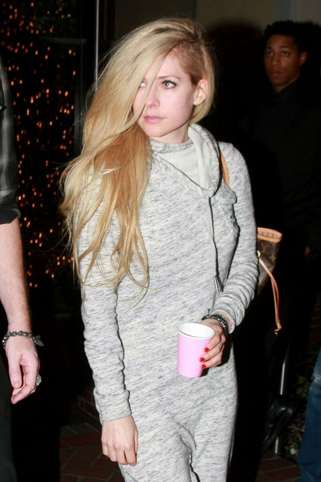 Avril Lavigne - Leaves The Sunset Marquis in West Hollywood