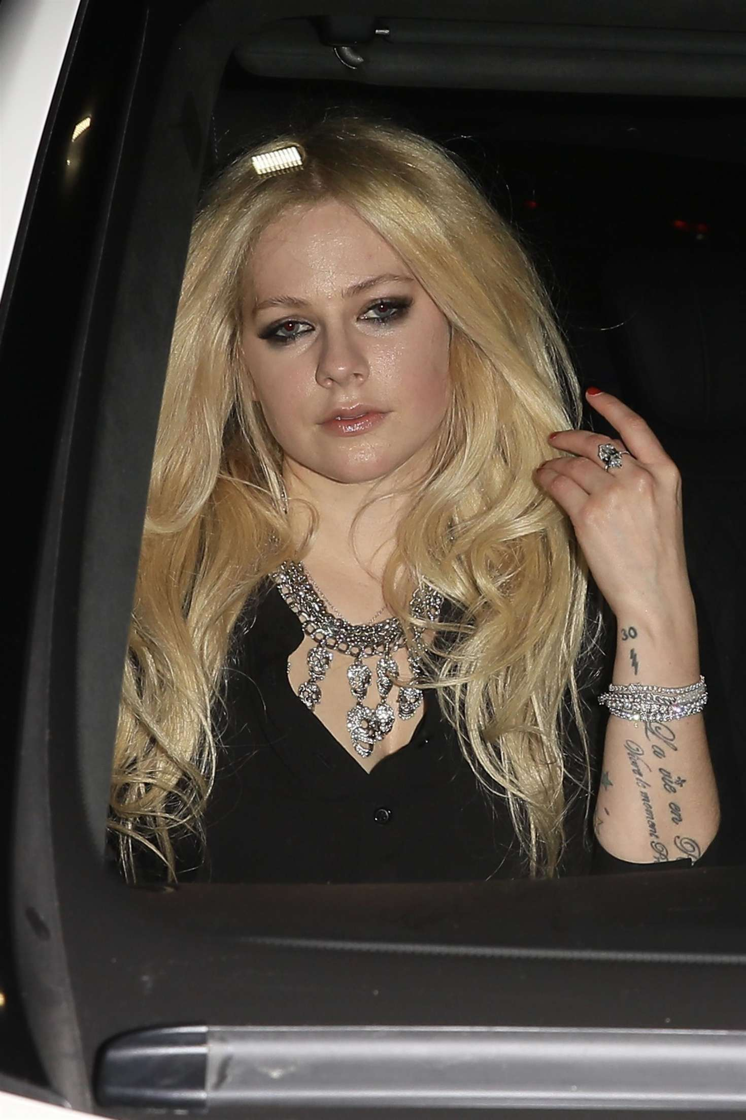 Avril Lavigne night out at Peppermint Club in West Hollywood
