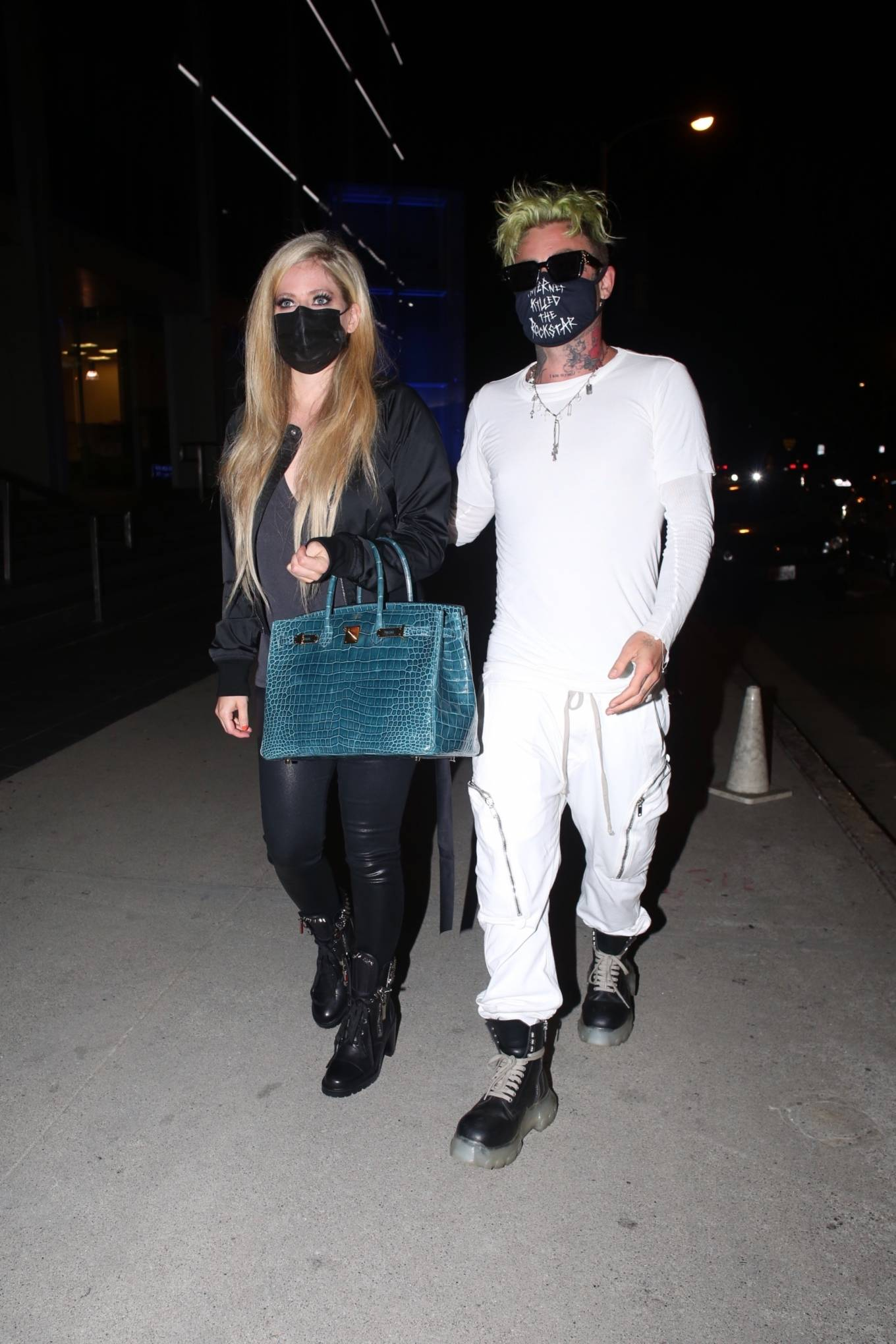 Avril Lavigne - Pictured at BOA Steakhouse in Los Angeles