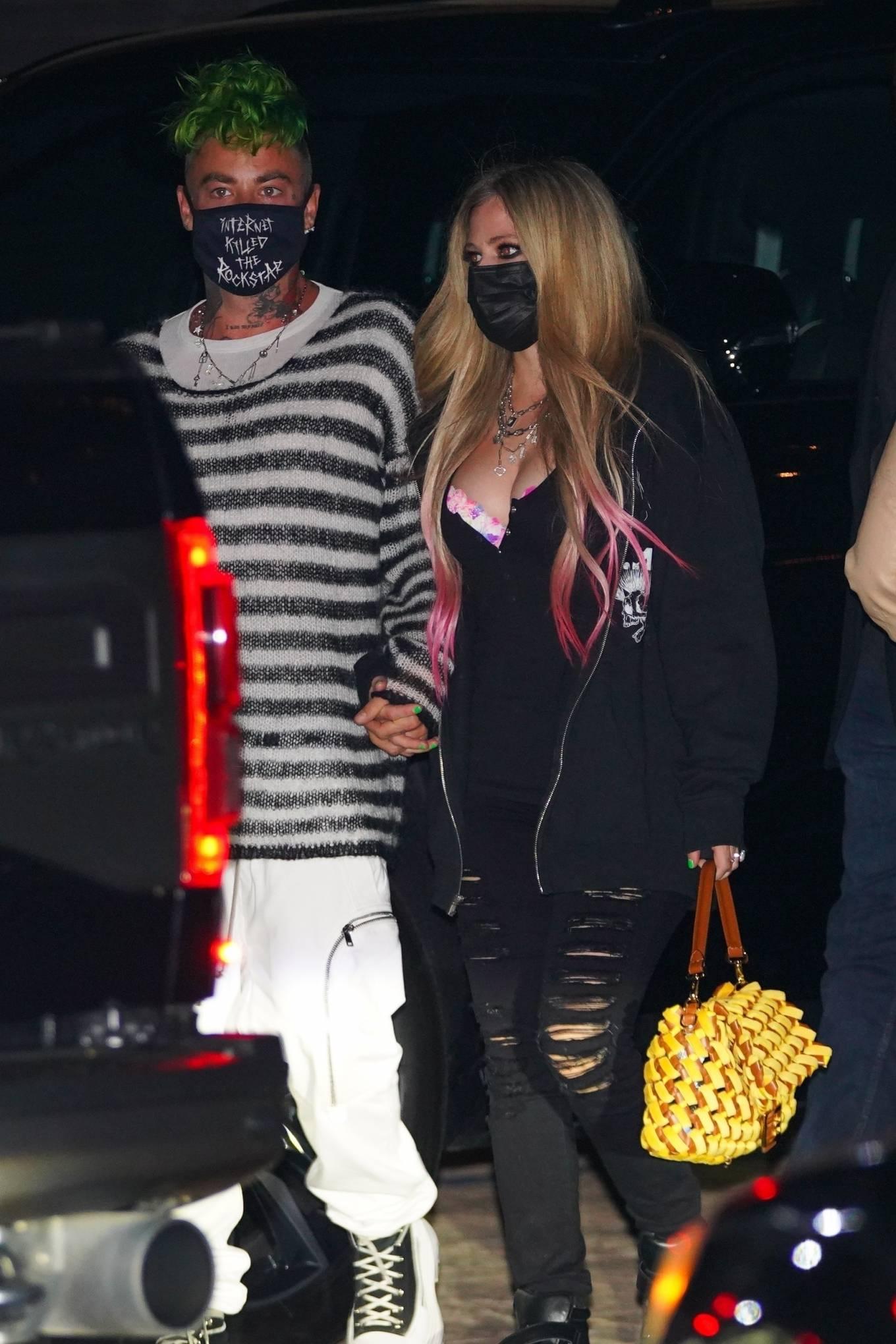 Avril Lavigne - Spotted at Nobu in Malibu
