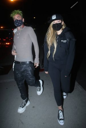 Avril Lavigne - Steps out for a dinner date at BOA Steakhouse in West Hollywood