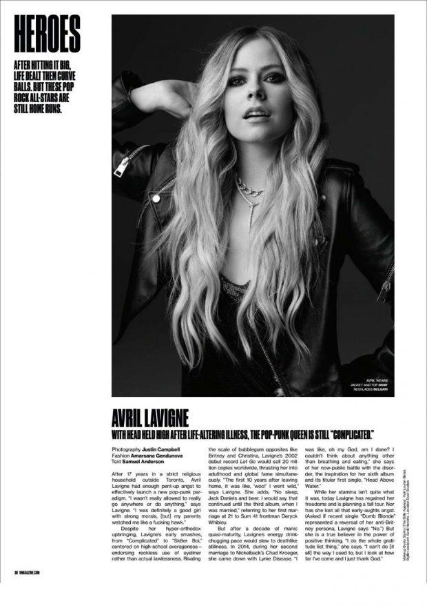 Avril Lavigne - V Magazine (Summer 2019)