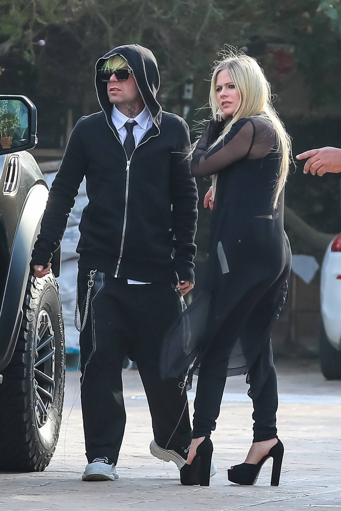 Avril Lavigne - With Mod Sun arriving at Soho House in Malibu