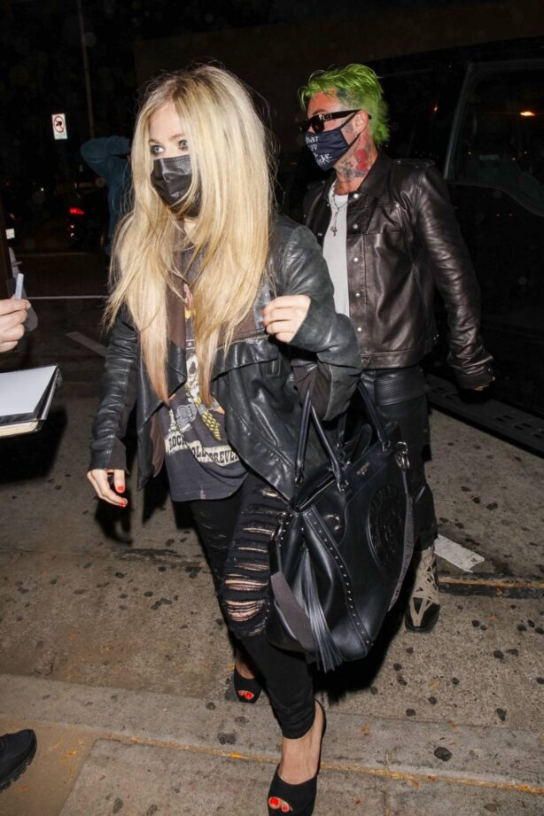 Avril Lavigne - With Mod Sun at Craig's in West Hollywood