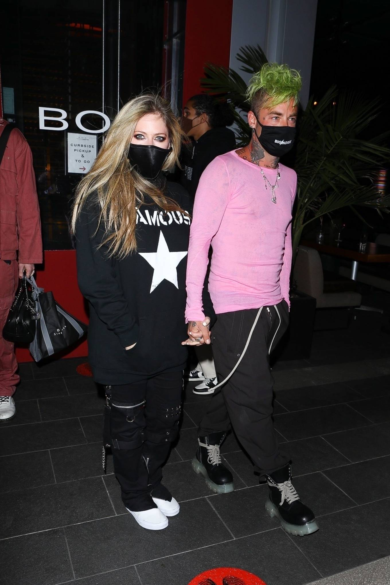 Avril Lavigne - With Mod Sun leaving dinner at BOA Steakhouse - West Hollywood