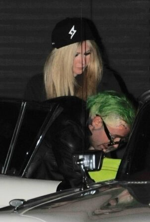 Avril Lavigne - With Mod Sun leaving Nobu after a dinner date in Malibu