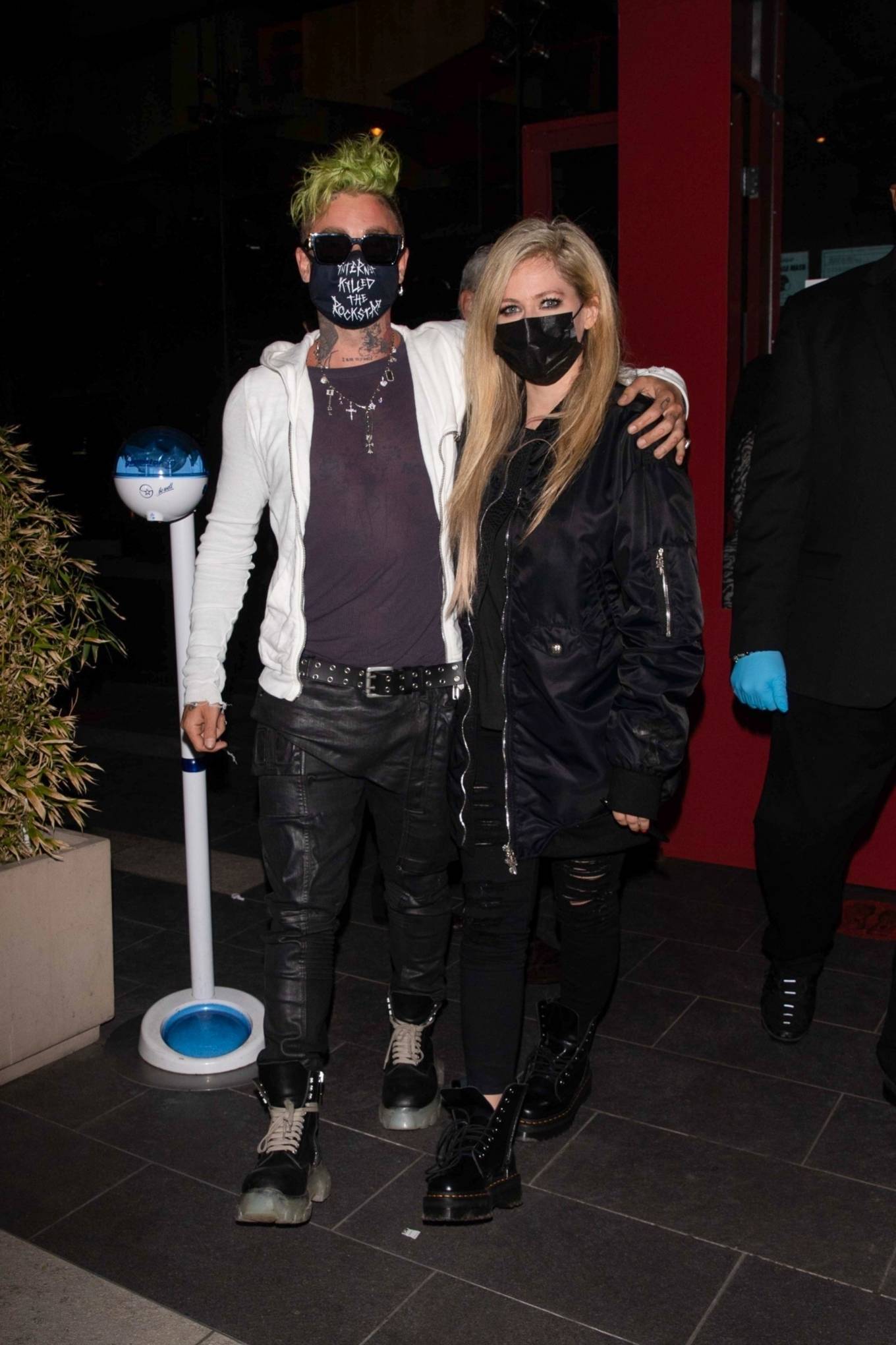Avril Lavigne - With Mod Sun seen leaving BOA Steakhouse in Los Angeles