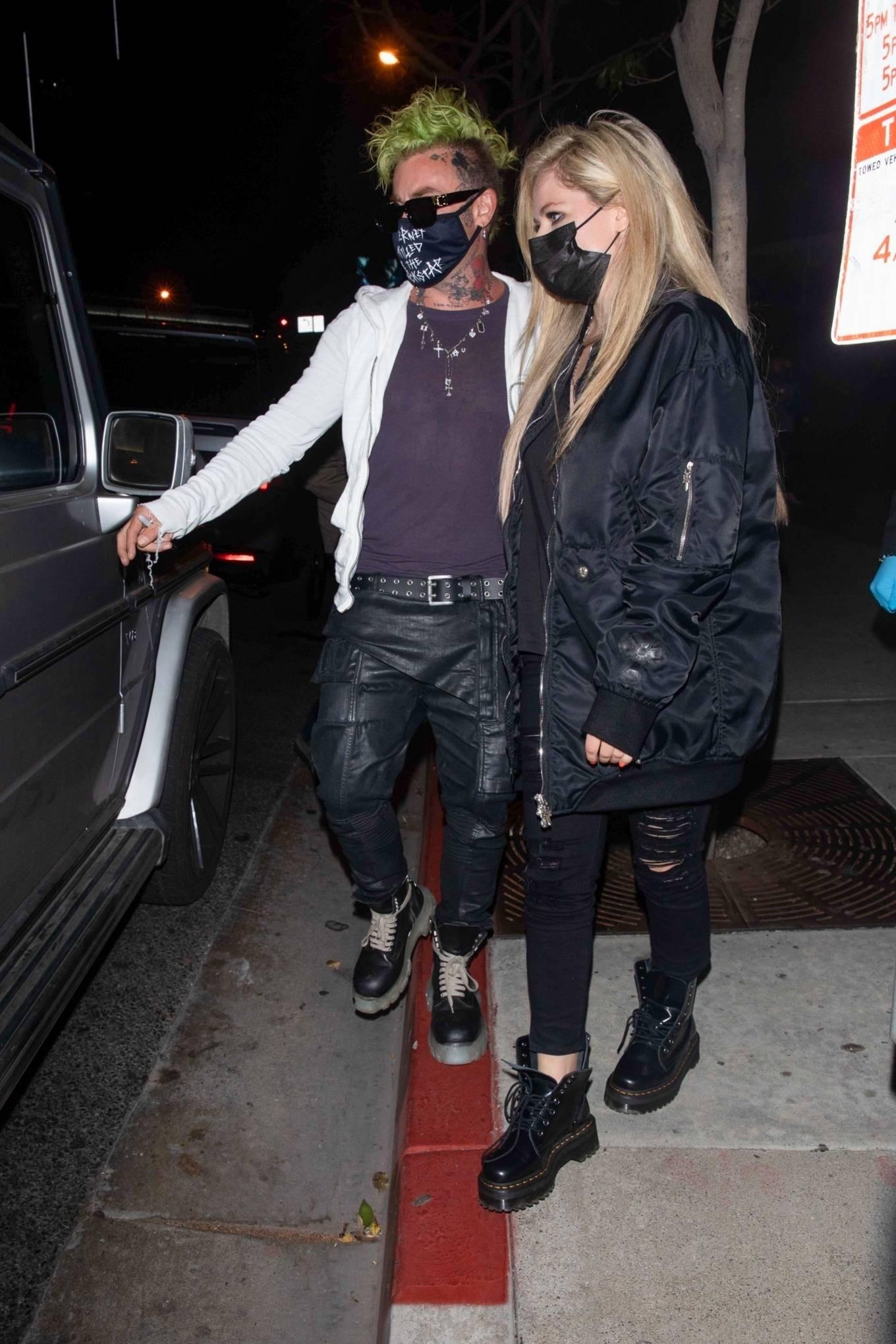 Avril Lavigne 2021 : Avril Lavigne – With Mod Sun seen leaving BOA Steakhouse in Los Angeles-07