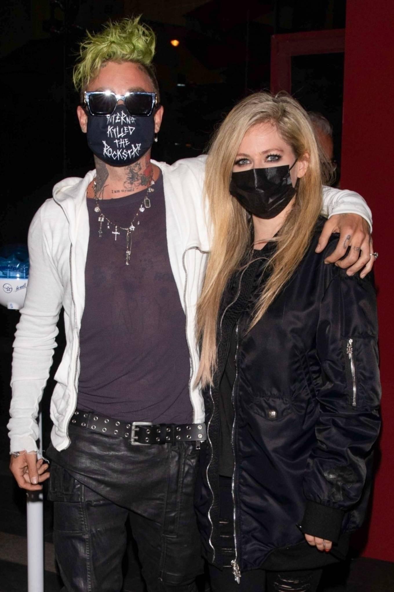 Avril Lavigne 2021 : Avril Lavigne – With Mod Sun seen leaving BOA Steakhouse in Los Angeles-08