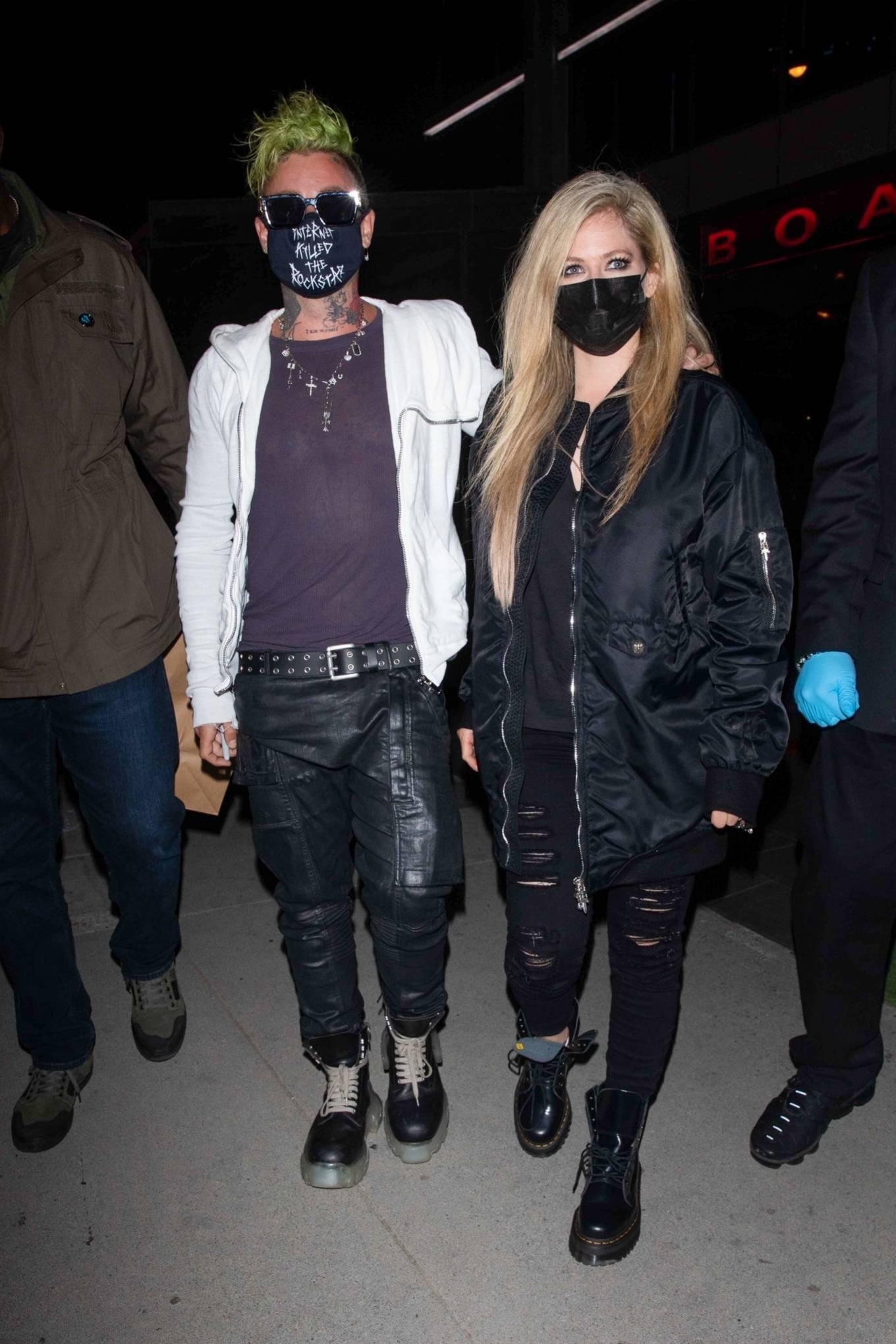 Avril Lavigne 2021 : Avril Lavigne – With Mod Sun seen leaving BOA Steakhouse in Los Angeles-09