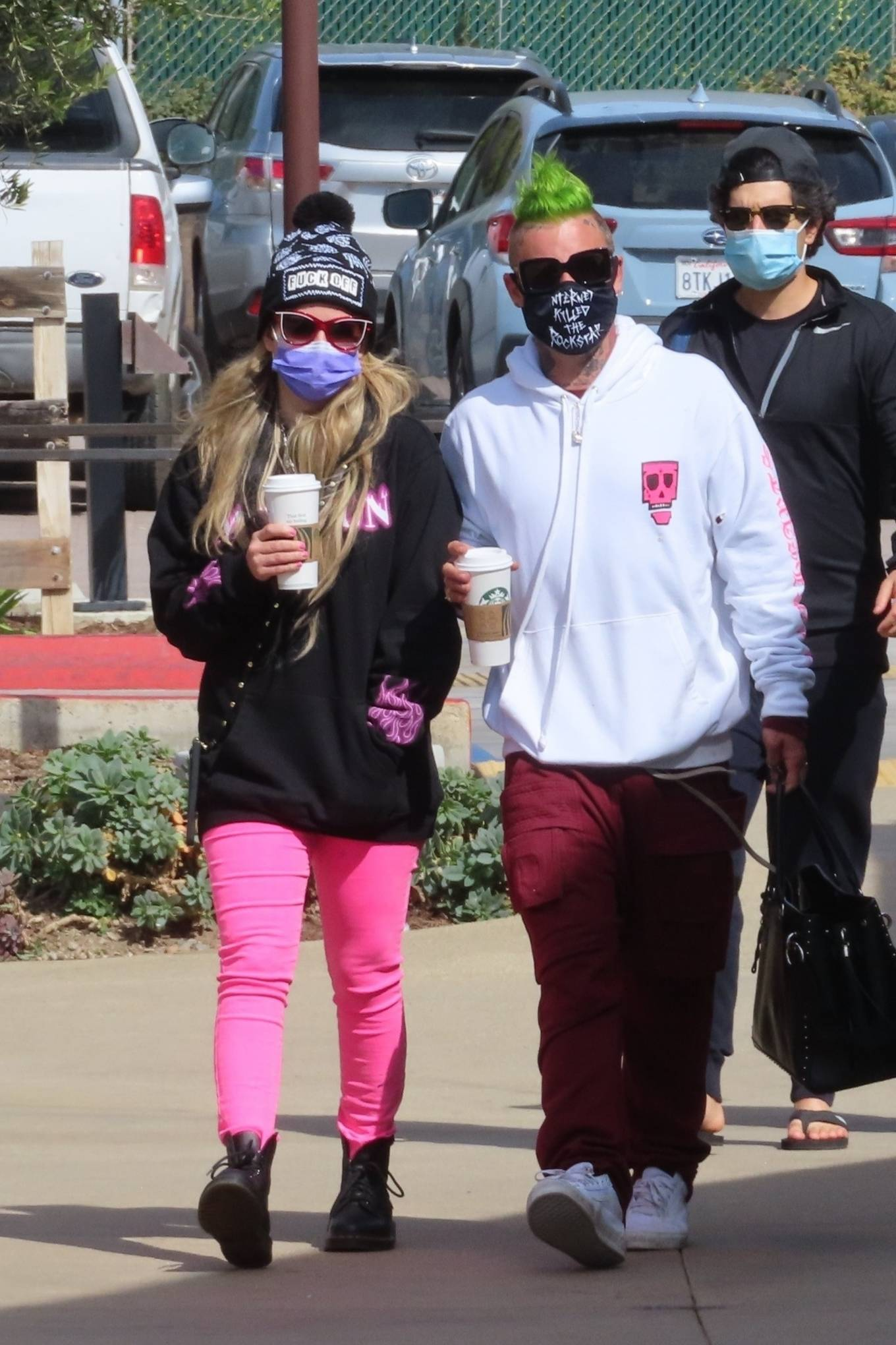 Avril Lavigne - With Mod Sun seen on Valentine's Day in Malibu