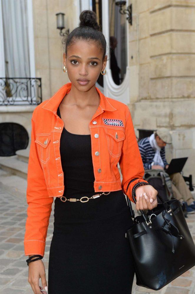 Aya Jones - Jacquemus Fashion Show in Paris