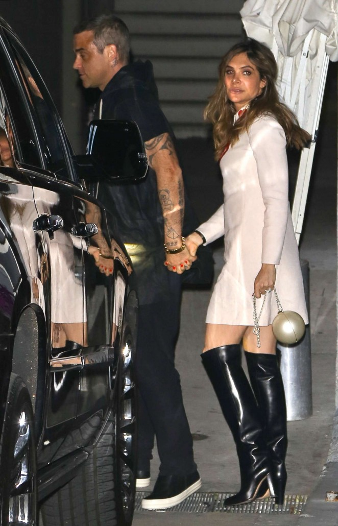 Ayda Field and Robbie Williams at the Adele Concert in Los Angeles
