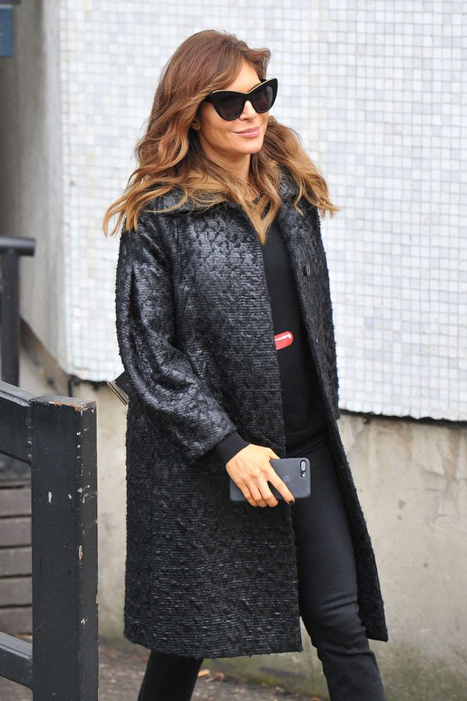 Ayda Field - Leaving the ITV Studio in London