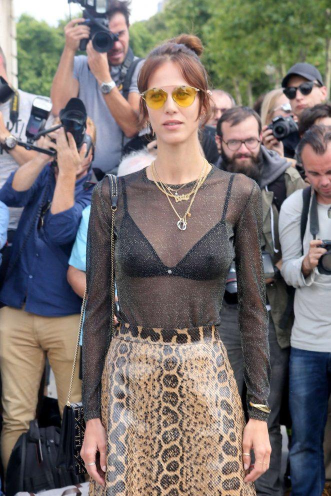 Aymeline Valade - Christian Dior Fashion Show FW 2017 in Paris