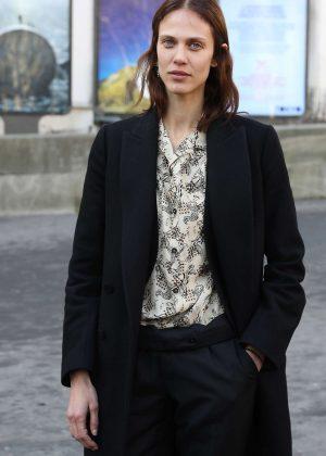 Aymeline Valade - Leaving Lanvin Fall Winter 2017 Men's Show in Paris