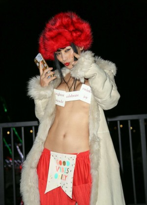 Bai Ling heading out to a party in Los Angeles