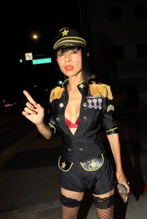 Bai Ling - In a custom uniform in Beverly Hills
