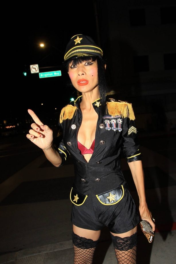 Bai Ling - In a custom uniform in Beverly Hills
