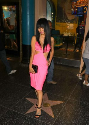 Bai Ling in Pink Dress out in Los Angeles