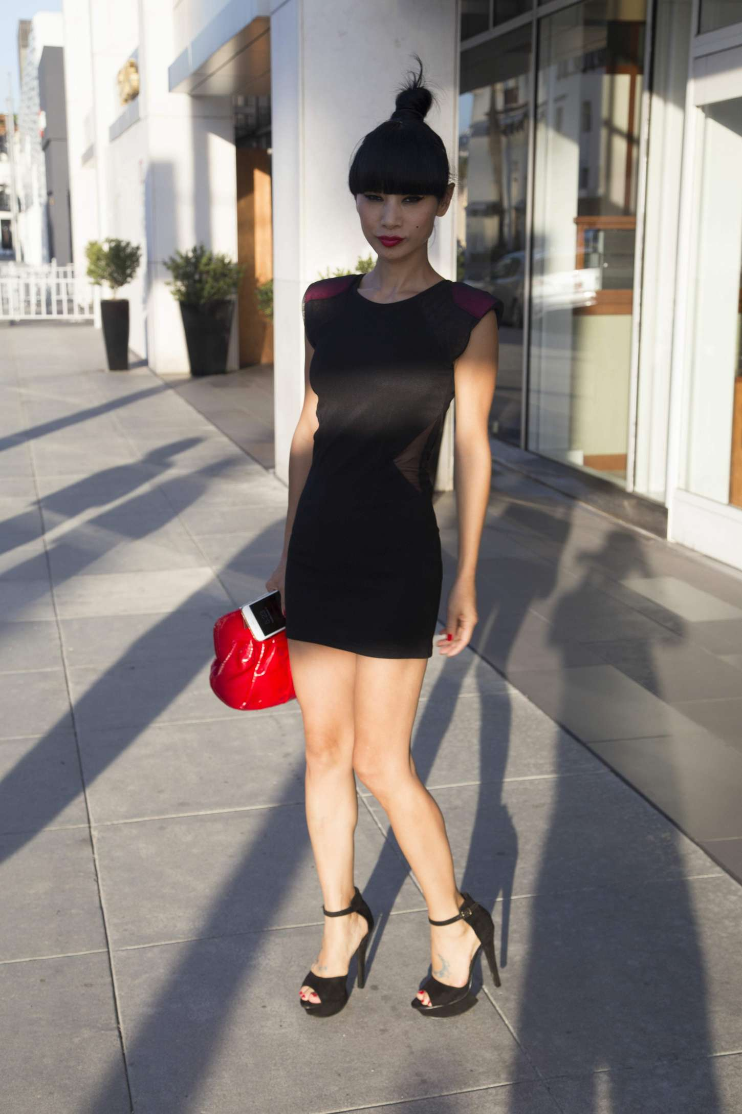 Bai Ling in Short Dress out in Beverly Hills