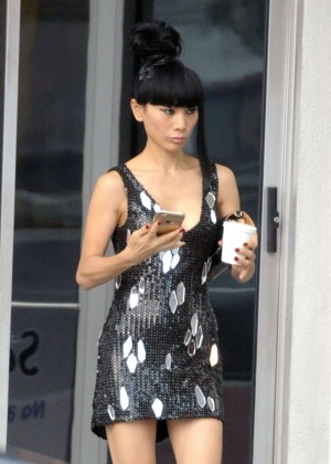 Bai Ling in Short Dress out in Los Angeles