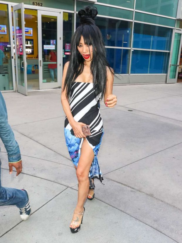 Bai Ling - Outside AceLight Theater in Hollywood