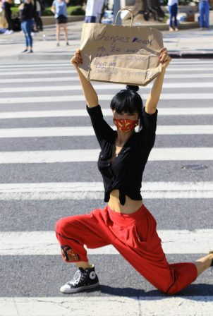 Bai Ling - Passes at the Black Lives Matter protest in Studio City