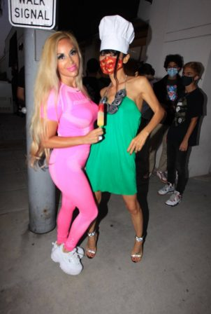 Bai Ling - Poses with Marcela Iglesias in Beverly Hills